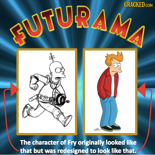 UTURA4 CRACKED.COM The character of Fry originally looked like that but was redesigned to look like that.