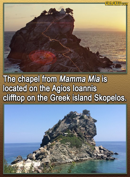 CRACKED The chapel from Mamma Mia is located on the Agios loannis clifftop on the Greek island Skopelos.