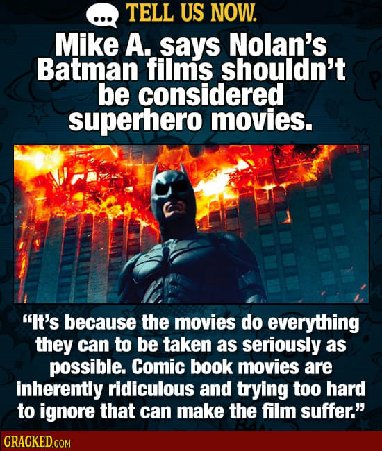 Tell Us Now: Controversial Opinions About Superhero Movies