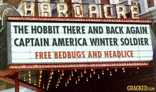 HIARDAICIRE THE HOBBIT THERE AND BACK AGAIN CAPTAIN AMERICA WINTER SOLDIER FREE BEDBUGS AND HEADLICE