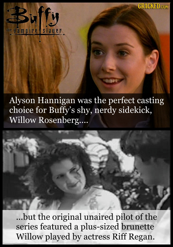 Buffy CRACKEDCON be mire Siauer Alyson Hannigan was the perfect casting choice for Buffy's shy, nerdy sidekick, Willow Rosenberg.... ...but the origin