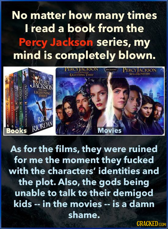 No matter how many times I read a book from the Percy Jackson series, my mind is completely blown. PEROYJACKSON INCLLIDES PERCY TACKSON CMK LIGHINING