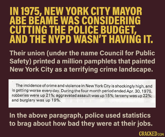 NYC's 1975 Nightmarish Cop Propaganda Pamphlet