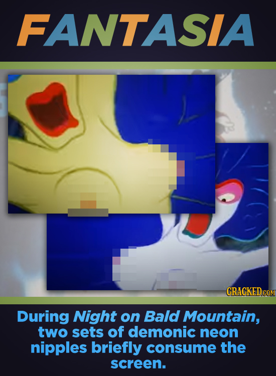 FANTASLA CRACKED COM During Night on Bald Mountain, two sets of demonic neon nipples briefly consume the screen.