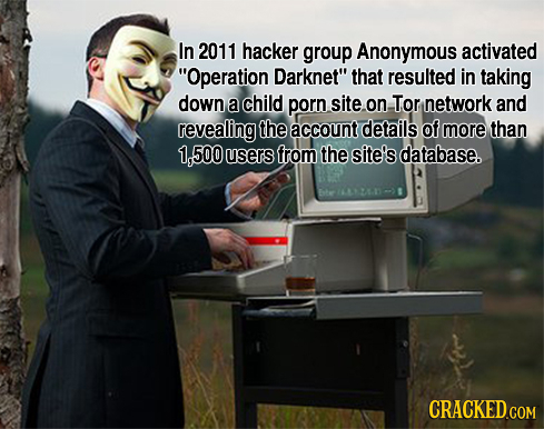 In 2011 hacker group Anonymous activated Operation Darknet that resulted in taking down a child porn site on, Tor network and revealing the account