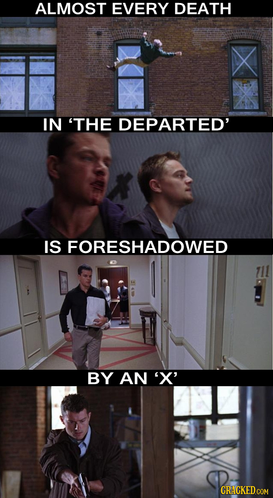 ALMOST EVERY DEATH IN 'THE DEPARTED' IS FORESHADOWED BY AN 'X'
