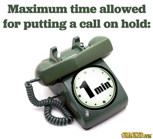 Maximum time allowed for putting a call on hold: min CRACKEDOON