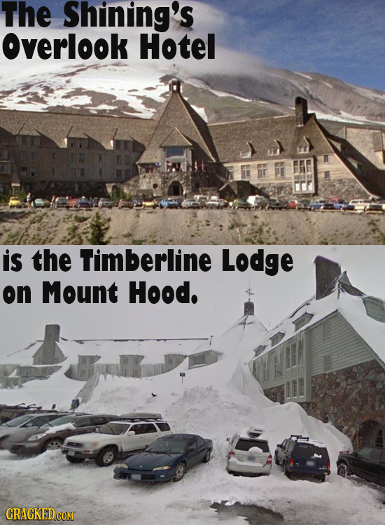 The Shining's Overlook Hotel is the Timberline Lodge on Mount Hood.