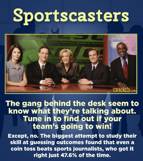15 Respected Groups Who Aren't So Elite As People Say - The gang behind the desk seem to know what they're talking about. Tune in to find out if your