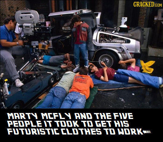 CRACKED.COM MARTY MEFLY AND THE FIVE PEDPLE IT TOOK TO GET HIS FUTURISTIE CLOTHES TO WORK