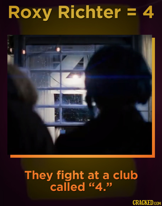 Roxy Richter E 4 They fight at a club called 4.
