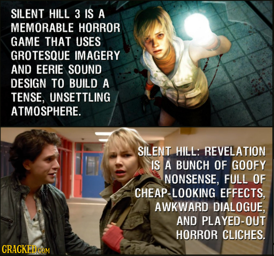 SILENT HILL 3 IS A MEMORABLE HORROR GAME THAT USES GROTESQUE IMAGERY AND EERIE SOUND DESIGN TO BUILD A TENSE, UNSETTLING ATMOSPHERE. SILENT HILL: REVE