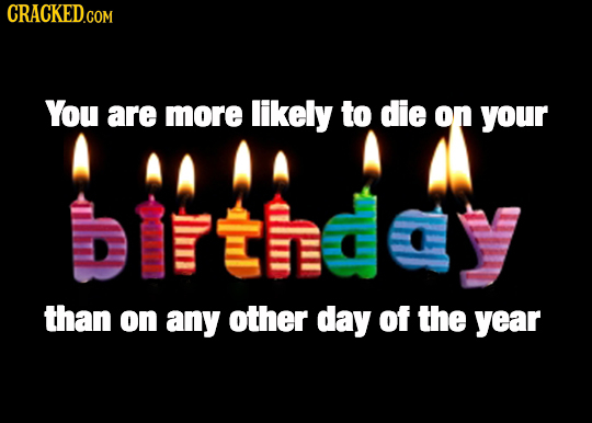 CRACKED.COM You are more likely To die on your than on any other day of the year