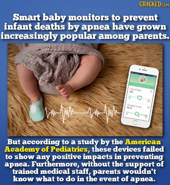 CRACKEDcO Smart baby monitors to prevent infant deaths by apnea have grown increasingly popular among parents. Heart Rate 156 VMimee Oxygertevel 9594