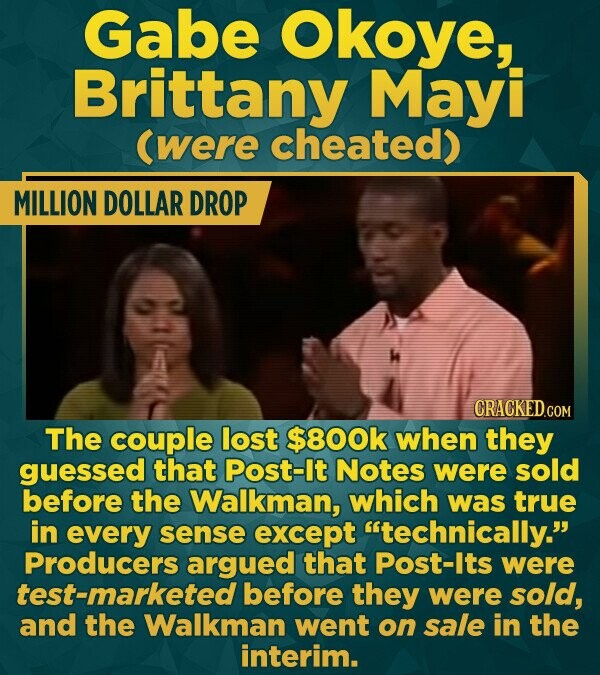 Gabe Okoye, Brittany Mayi (were cheated) MILLION DOLLAR DROP CRACKEDcO The couple lost $800k when they guessed that Post-lt Notes were sold before the