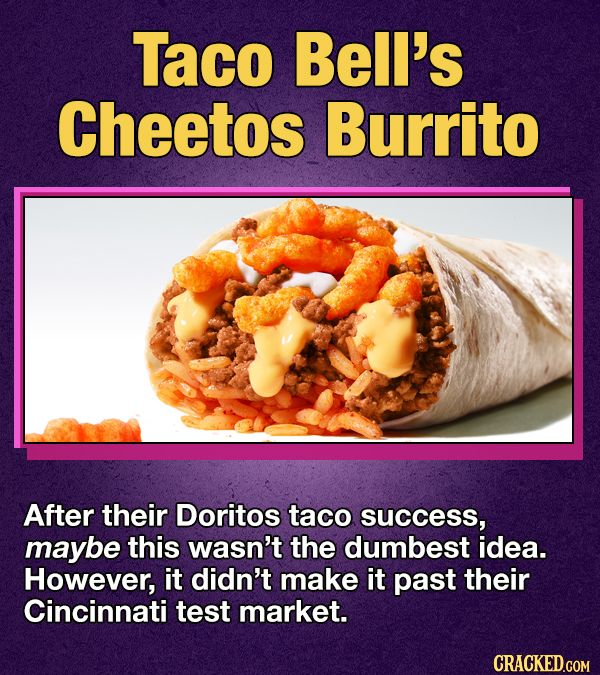 Photo of Taco Bell's Cheetos Burrito