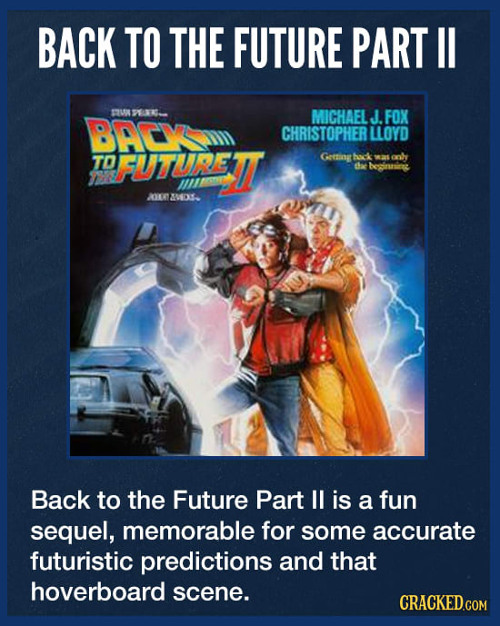 Back To The Future Part II's Near-Fatal Accident