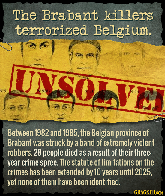 The Brabant killers terrorized Belgium. UNSOITEI ohis Between 1982 and 1985, the Belgian province of Brabant was struck by a band of extremely violent