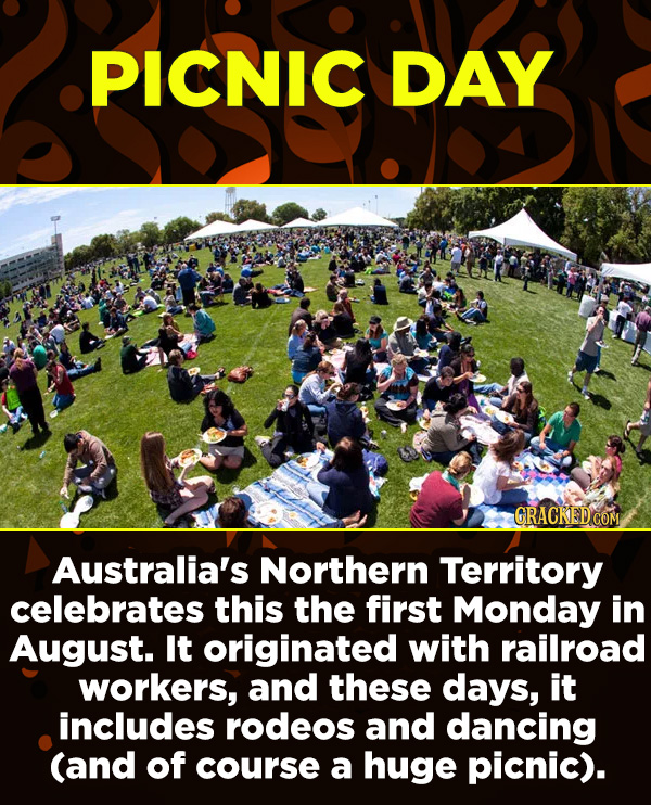 15 Amazing Festivals You Wish You Could Celebrate Right Now - Australia's Northern Territory celebrates this the first Monday in August. It originated