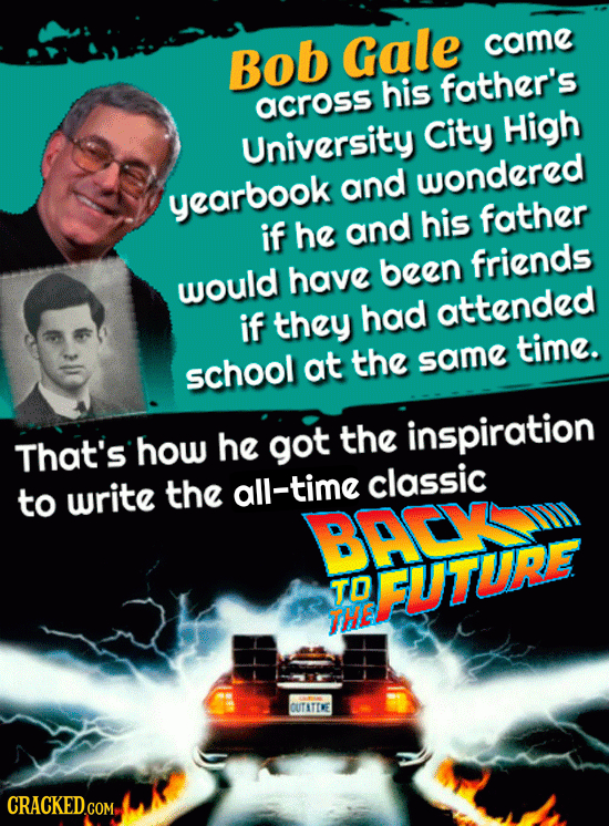 Bob Gale came his father's across University City High and wondered yearbook his father if he and have been friends would had attended if they time. s