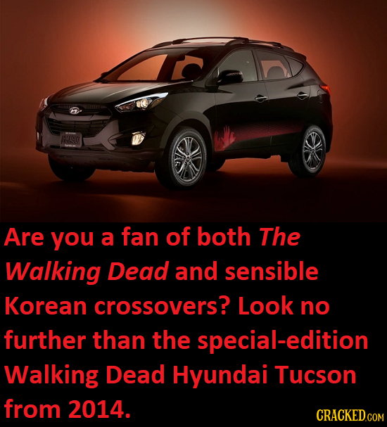 AHE SLY Are you a fan of both The Walking Dead and sensible Korean crossovers? Look no further than the special-edition Walking Dead Hyundai Tucson fr