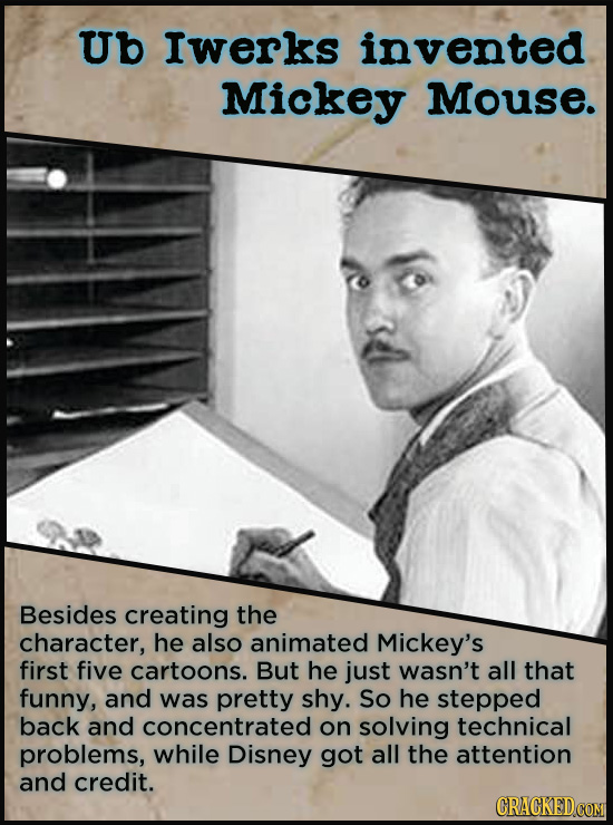 21 People Who Get Unfairly Left Out Of The History Books - Ub Iwerks was a Missouri-born animator and Walt Disney's oldest and closest friend. He was