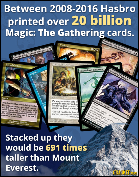 Between 2008-2016 Hasbro printed billion over 20 Magic: The Gathering cards. Kokusho. Virdlicare the Evening 000 Star Breeder Master Sahr. Endrek $pin