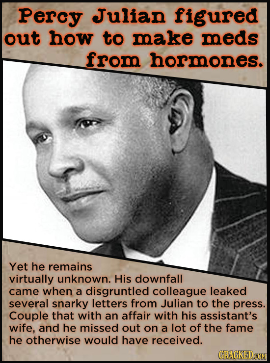 21 People Who Get Unfairly Left Out Of The History Books - In 1940, Percy Julian figured out how to isolate hormones so they could be used in medicine