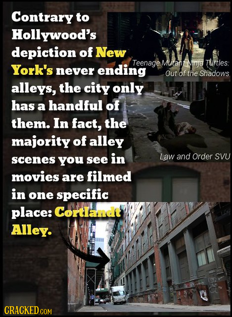 Contrary to Hollywood's depiction of New Mutant York's Teenage Ninfa Turtles: never ending out of the Shadows alleys, the city only has a handful of t