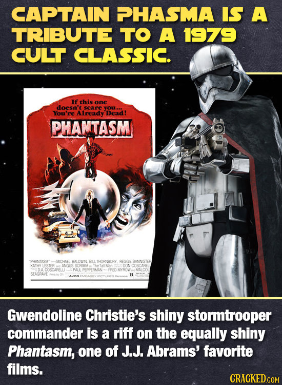 CAPTAIN PHASMA IS A TRIBUTE TO A 1979 CULT CLASSIC. Ifthis one doesn't scare yOu.. You're Already Dead! PHAMTASM PHANTASM MCHAEL RALDWN BLLTHORNURY R