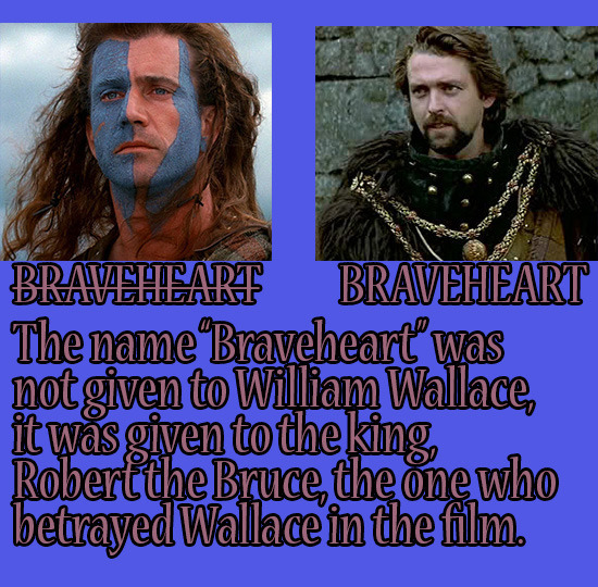 BRAVAEHEART BRAVEHEART The name Braveheart was not given to William Wallace, it Was given to the king Robert the Bruce, the one who betrayed Wallace