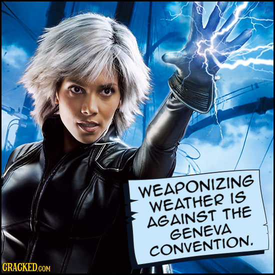 WEAPONIZING IS WEATHER THE AGAINST GENEVA CONVENTION.
