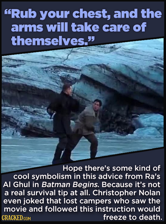 21 Details That Movies And TV Shows Got Exactly Wrong - Hope there's some kind of  cool symbolism in this advice from Ra's  Al Ghul in Batman Begins.