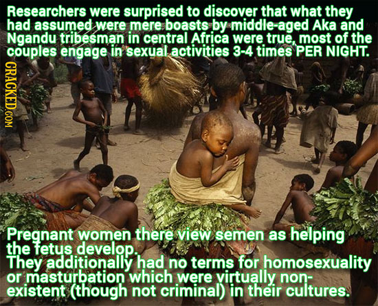 Researchers were surprised to discover that what they had assumed were mere boasts by middle-aged Aka and Ngandu tribesman in central Africa were true