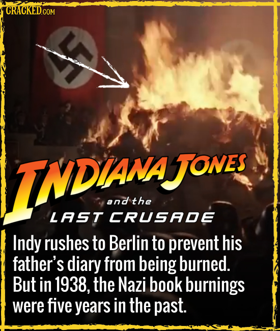 CRACKEDC COM TNDANAow AJONES and the LAST CRUSADE Indy rushes to Berlin to prevent his father's diary from being burned. But in 1938, the Nazi book bu