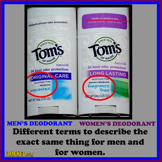Gentie on sensitive skin odor protection. Cloicaly proven odor proven Clnicaily 1970 1970 SINCE since Tom's Tom's OF MAINE OF MAINE natural natural 24
