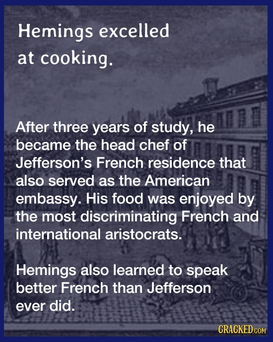 The Slave Who Brought French Food to America