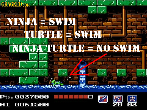NINJA SWIM TURTLE SWI NINTA TURTIE NO SWIM A Pts. 0037000 roh HI 006 1500 2I61 613