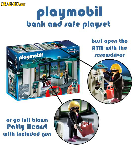 GRACKEDCON playmobil bank and safe playset buat open the ATM with the it ACTION screwdriver playmobil RIS 4-10 126 p0 5177 of 9 full blown Patty hears