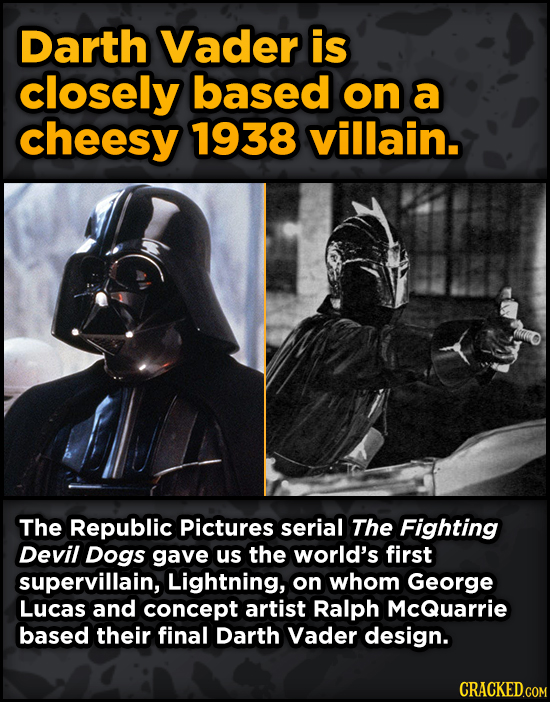 Movie Scenes With Hidden Homages To Other Movies - Darth Vader is closely based on a cheesy 1938 villain.