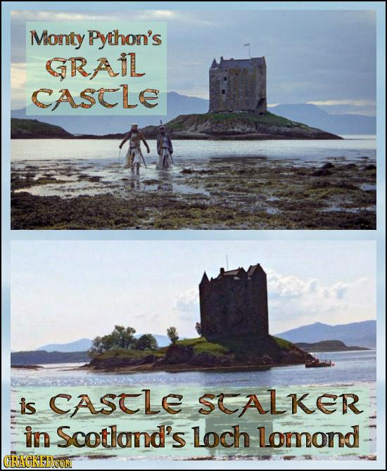 Monty Python's GRAIL CASCLE is CASCLE SCALKER in Scotland's loch lomond CRACKEDCON