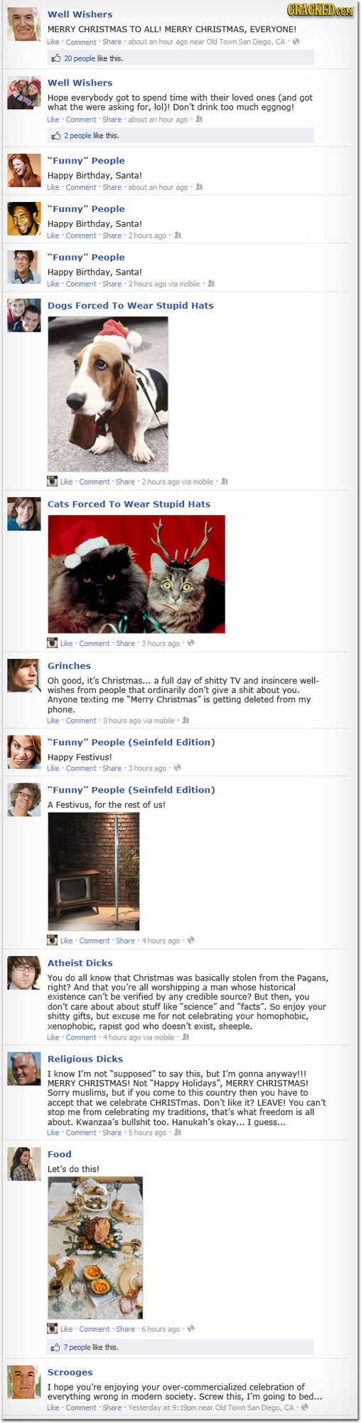 The 10 Types of Facebook Posts on Christmas Day