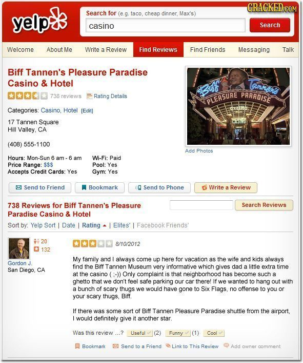If Fictional Locations Got Reviewed on Yelp