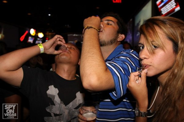 Shots are often the quickest means of reaching optimum levels of non-sobriety.
