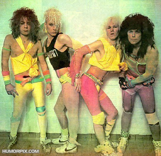 The 80's, back in the days where walking around with bright yellow ...