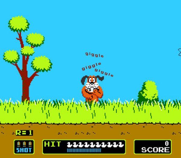 Dog in Duck Hunt